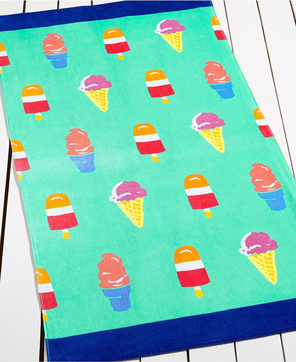 Ice Cream Beach Towel (for Martha Stewart)