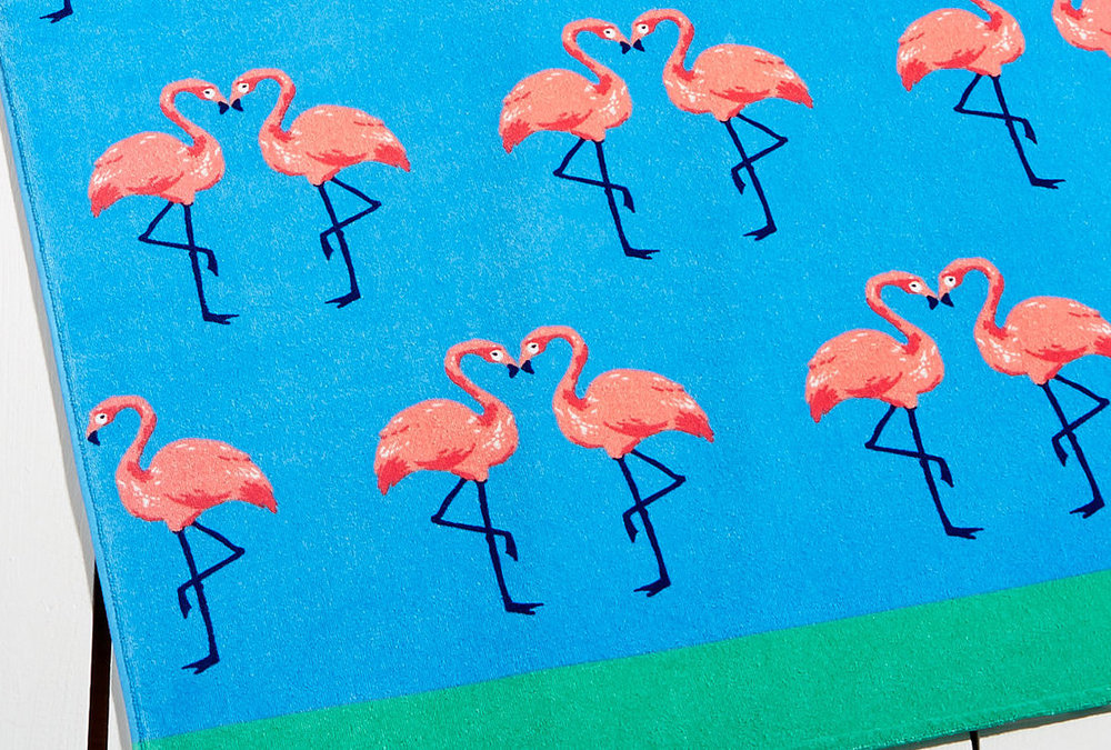Flamingos Beach Towel (for Martha Stewart)