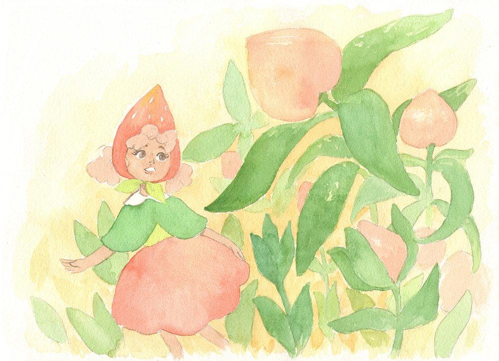Peach Grove by Lucy Kagan