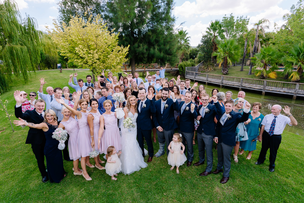 Perricoota Vines Wedding Photographer Echuca Moama Group Photo