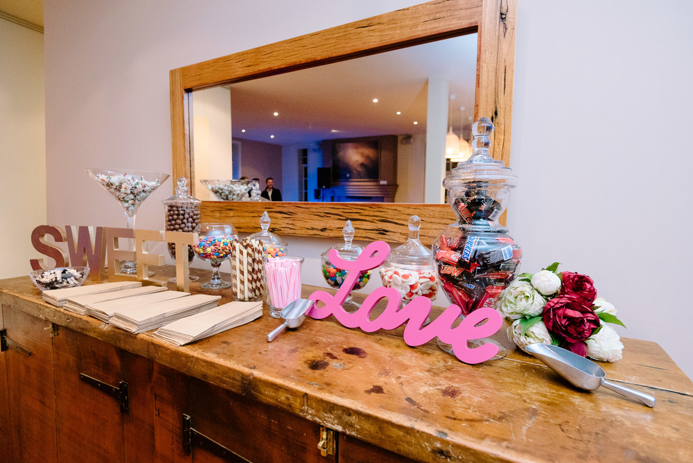Sault Daylesford Wedding Photography Lolly Bar