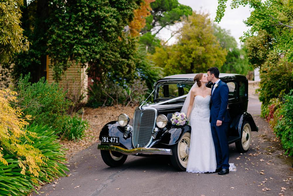 Bride and Groom at Fortuna Villa Wedding Bendigo