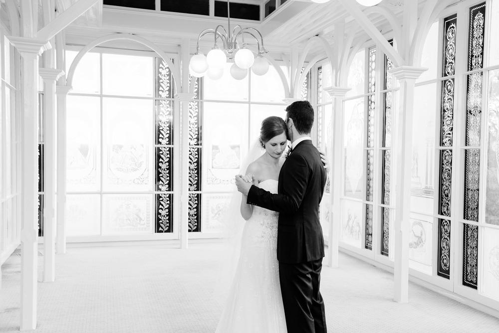 Bride and Groom Dancing inside Fortuna Villa Bendigo