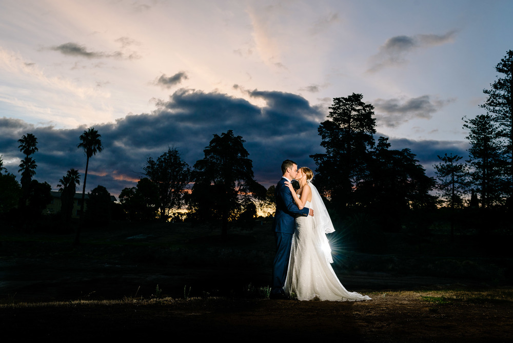 Sunset at Fortuna Villa Wedding Bendigo