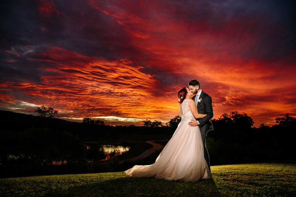 Sunset Wedding Photography at Sutton Grange Winery