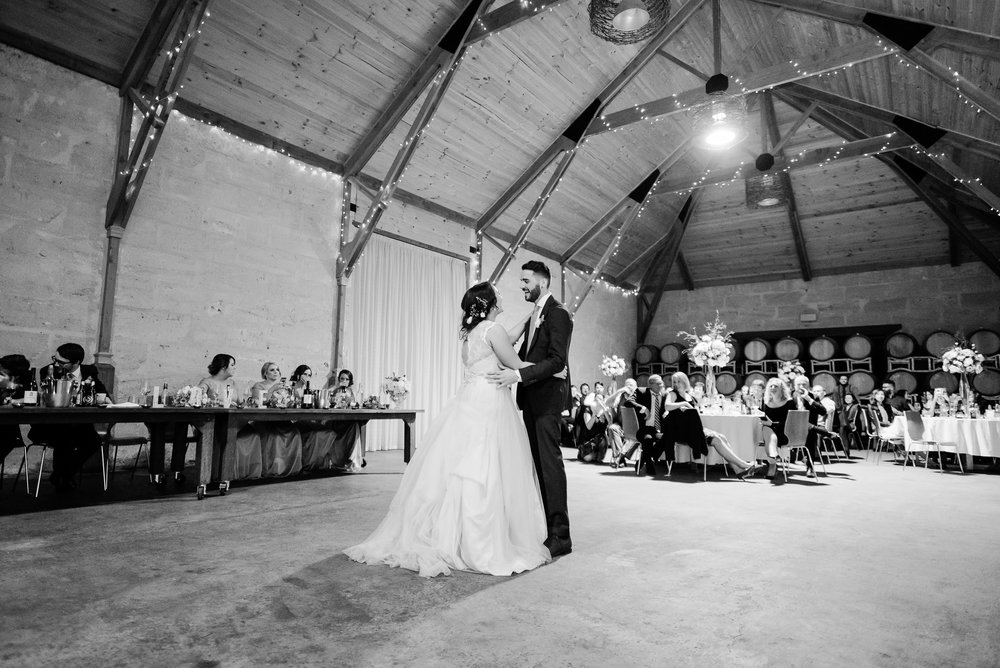 First Dance at Sutton Grange Winery Wedding