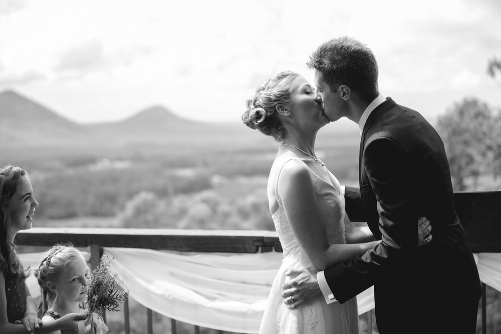 The Kiss Sunshine Coast Wedding Photography