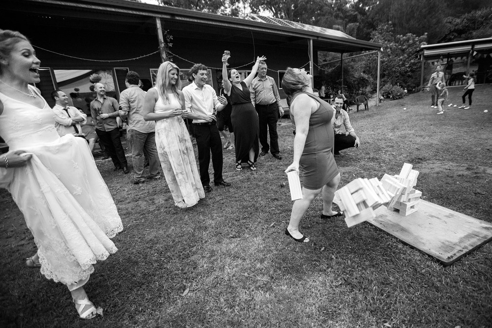 Jenga Wedding Games Photographer Glasshouse Mountains Sunshine Coast