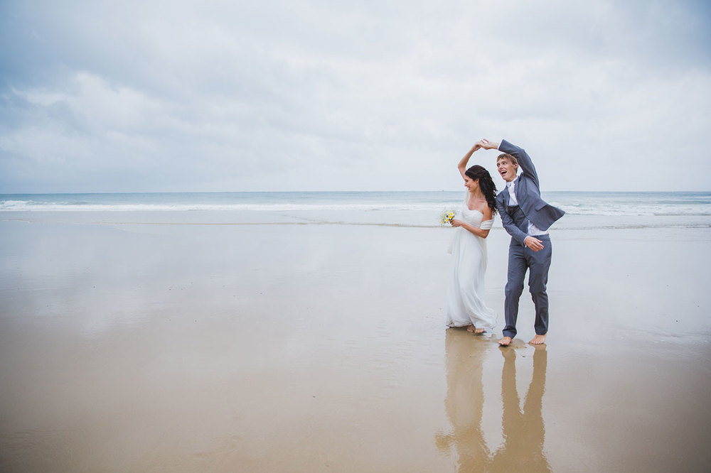 Mooloolaba Beach Elopement - Sunshine Coast, Australian Destination Wedding Photographers
