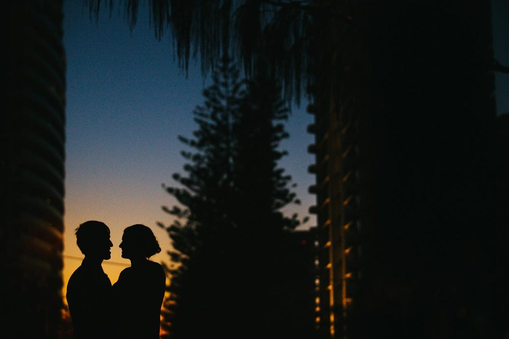 Silhouette Wedding Photos - Australian Destination Photographers