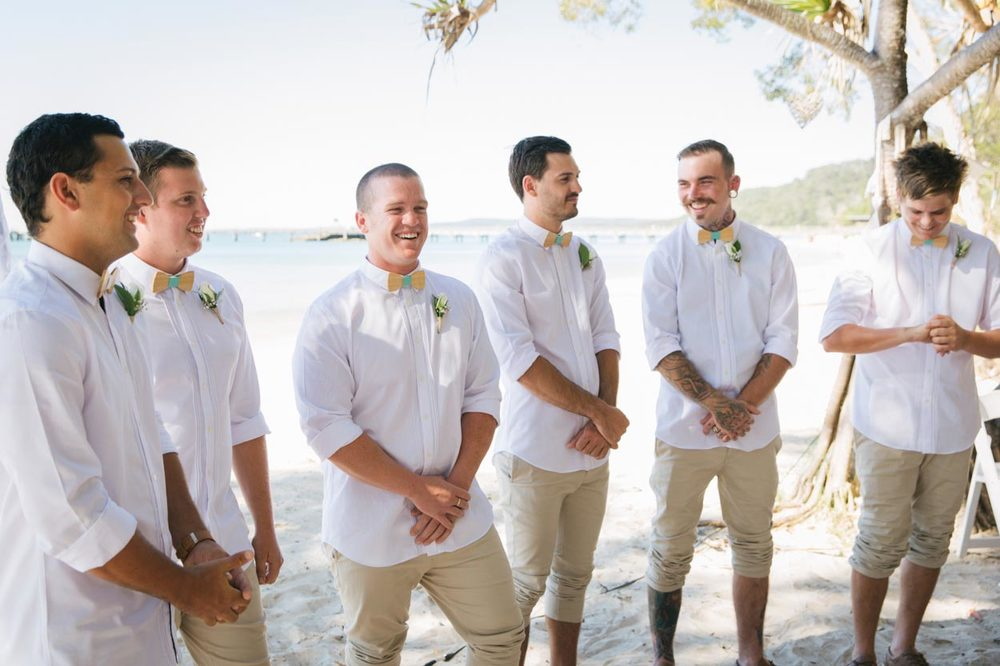 Groom Pre Ceremony, Fraser Island, Queensland - Sunshine Coast Beach, Brisbane Wedding Photographers