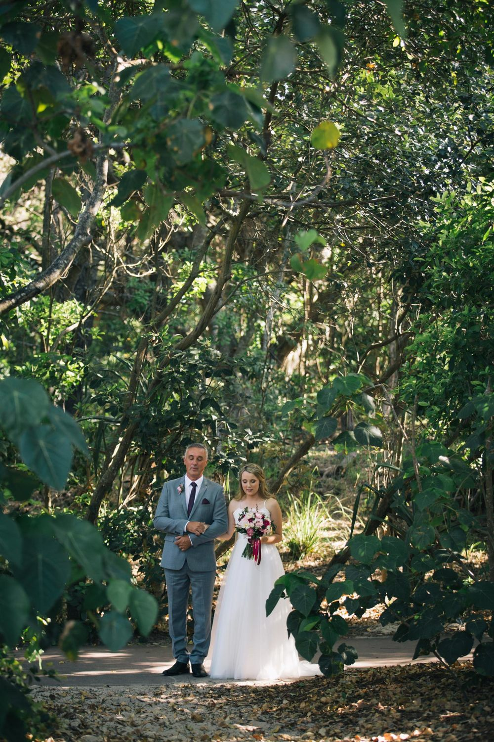 Wedding Aisle Prayer, Hidden Grove - Noosa, Sunshine Coast, Australian Photographers