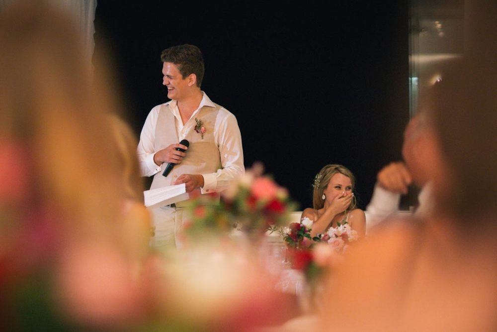 Boathouse Wedding Speech, Noosa - Sunshine Coast, Queensland, Destination Australian Photographers