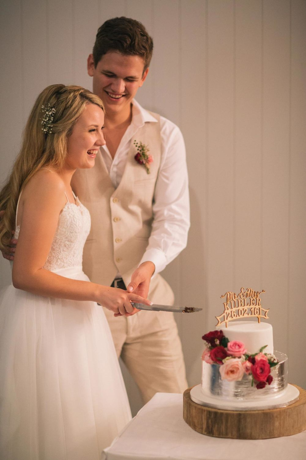 Cake Cutting, Noosa Boathouse Wedding - Sunshine Coast, Queensland, Destination Australian Photographers