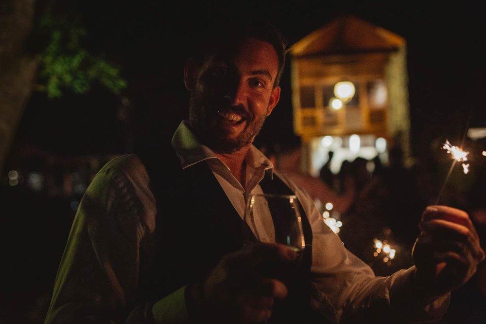 Best Man Sparkler Exit Goodbye, Gold Coast - Sunshine, Brisbane, Australian Destination Wedding Photographers