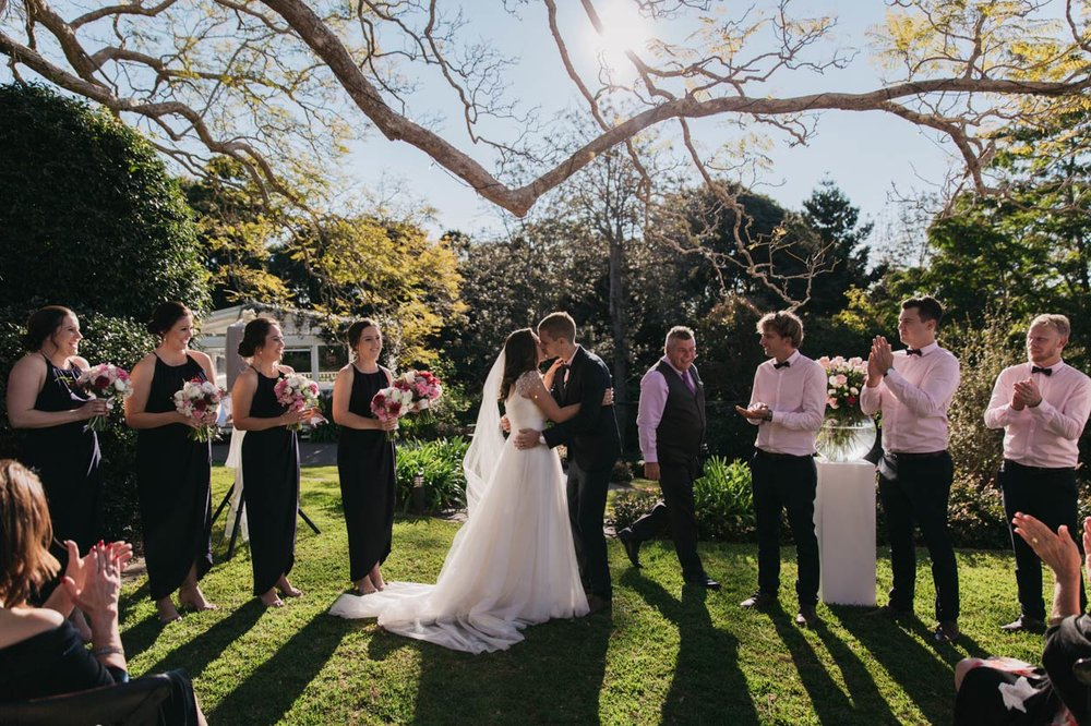 The Kiss, Spicers Clovelly Montville Destination Wedding Photographers - Brisbane, Sunshine Coast, Australian