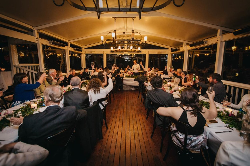 Spicers Clovelly Estate Reception Toast, Sunshine Coast - Brisbane, Australian Destination Wedding