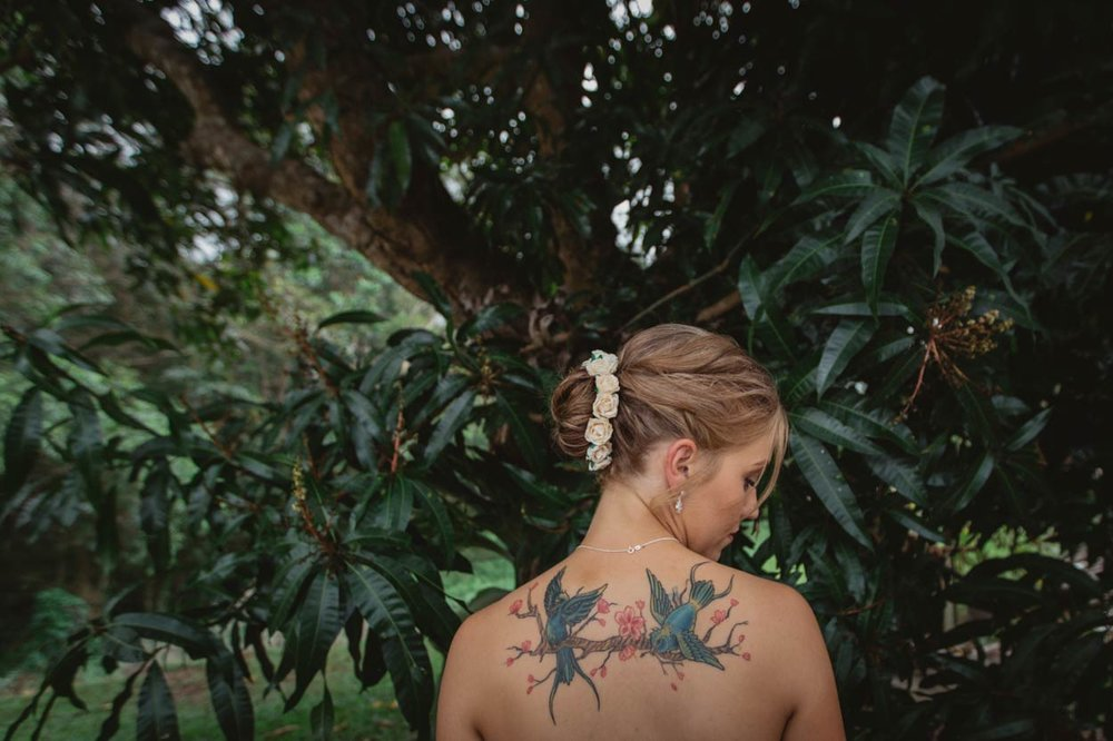 Maleny Rock and Roll Tattoo Bride, Sunshine Coast - Brisbane, Australian Destination Photographers