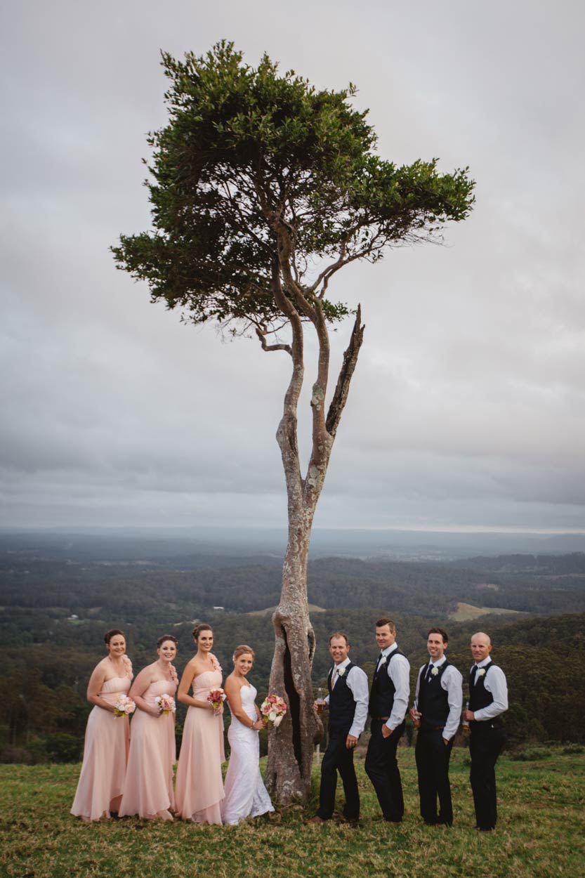 One Tree Hill, Maleny Wedding Party Portraits Blog - Sunshine Coast, Brisbane Australian Destination