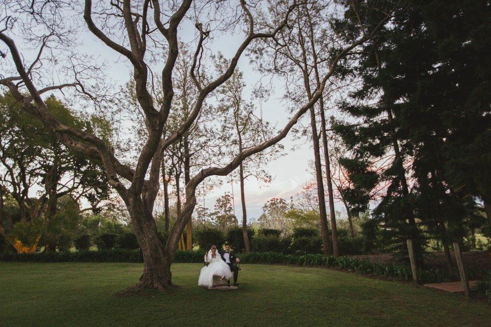 Gabbinbar Homestead Wedding Photographer Swing - Destination Sunshine Coast, Brisbane, Australian