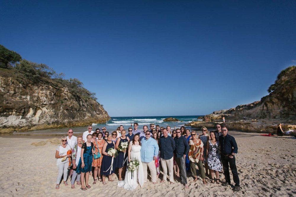 South Gorge Destination Wedding Group Photo - Brisbane, Sunshine Coast, Australian Eco Photographers