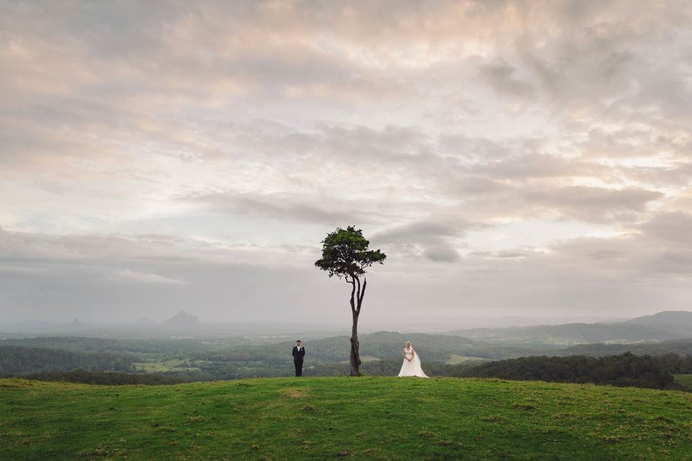 Best One Tree Hill Wedding Portraits, Sunshine Coast - Maleny, Brisbane, Australian Packages