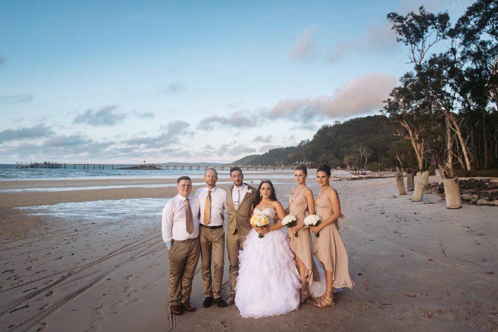 Candid Kingfisher Bay Fraser Island Destination Wedding - Brisbane, Sunshine Coast, Australian Photographer