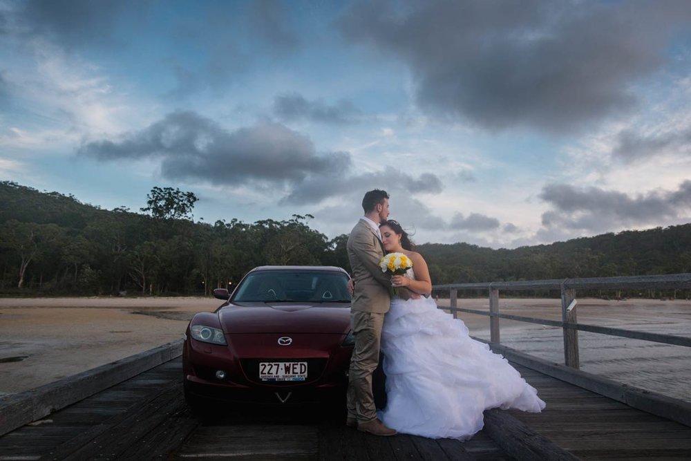 Sunset Beach Pier, Fraser Island Destination Wedding Photographer - Brisbane, Sunshine Coast, Australian