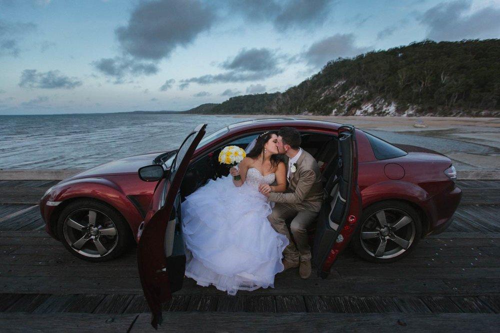Kingfisher Bay Pier, Fraser Island Destination Wedding Photographer - Sunshine Coast, Australian