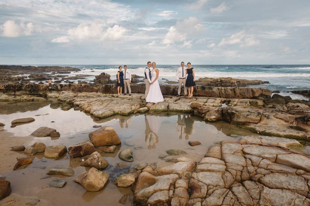 Point Arkwright Beach Destination Wedding - Brisbane, Sunshine Coast, Australian Elopement Photographers