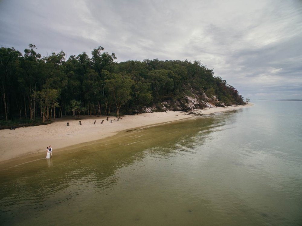 Sunset Beach, Fraser Island Sunshine Coast Pre Wedding Photographers - Brisbane, Australian Elopement