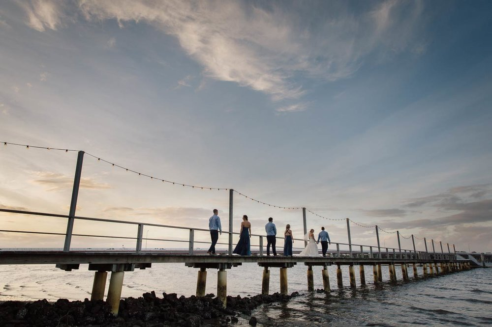Sandstone Point Hotel Pier, Brisbane, Sunshine Coast - Destination Wedding Photographers, Australia