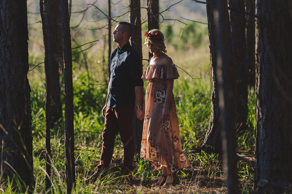 Maleny, Sunshine Coast Boho Wedding Engagement - Queensland, Australian Destination Photographers