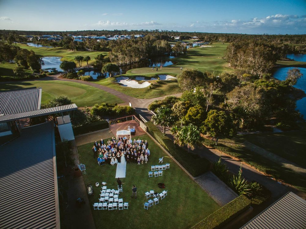 Pacific Harbour Golf Course Wedding, Bribie Island - Sunshine Coast, Australian Destination Photographers