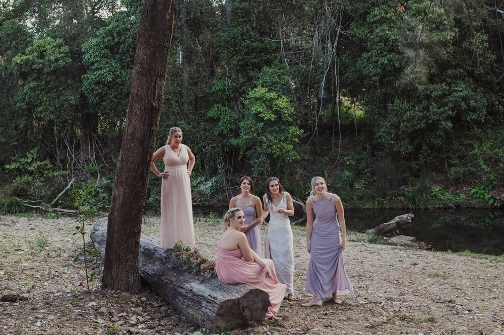 Yabbaloumba Retreat, Kenilworth Wedding Party Portraits - Sunshine Coast, Brisbane Australian Destination