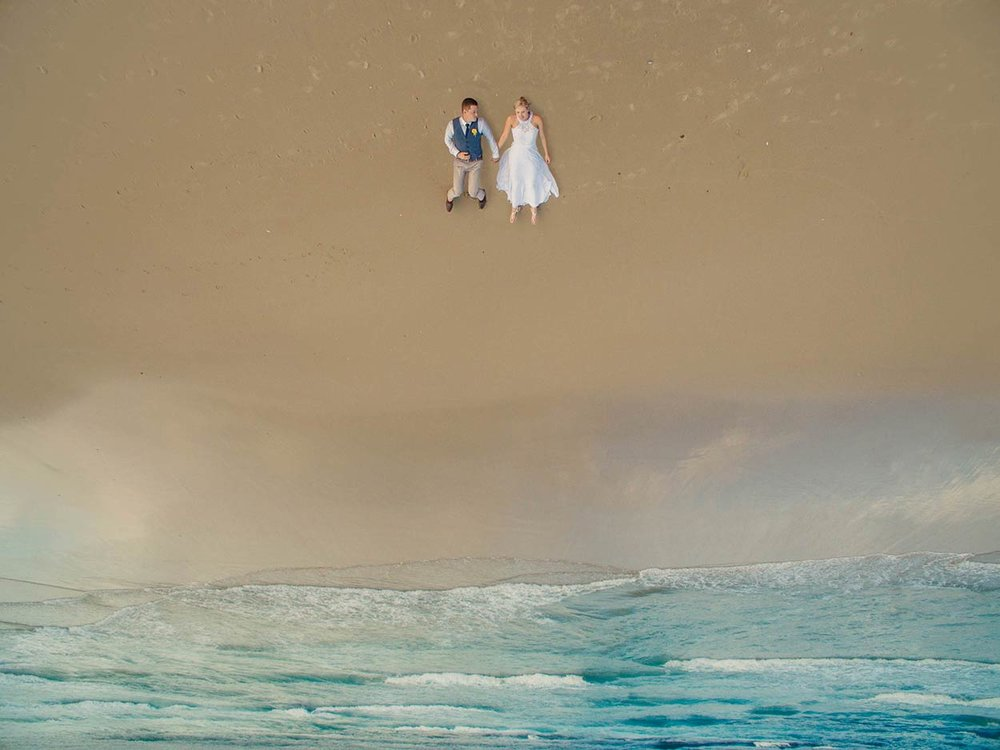 Noosa Drone Destination Wedding Photographer - Natural Queensland, Sunshine Coast, Australian