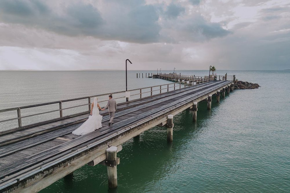 Fraser Island Pre Destination Drone Wedding Photographer - Sunshine Coast, Queensland, Australian