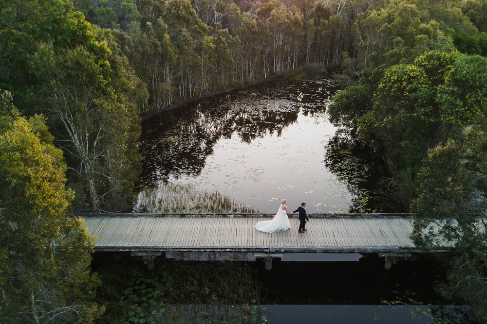 Perfect Flaxton Drone Destination Wedding Photographer - Sunshine Coast, Brisbane, Australian Blog