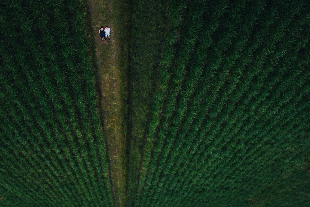 Sunshine Coast, Queensland Destination Drone Portrait Photographer - Maleny, Montville, Australian Wedding