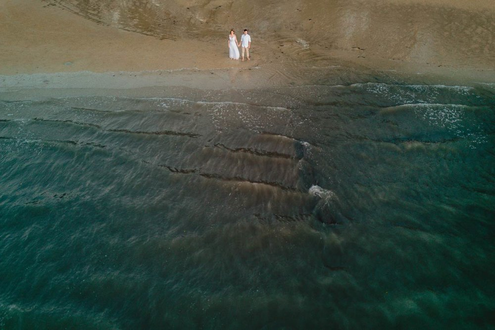 Noosa to Mooloolaba Beach Drone Pre Wedding Photographer - Sunshine Coast, Queensland, Australian