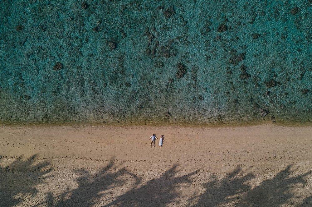 Noosa Drone Destination Wedding Photographer - Sunshine Coast, Queensland, Australian Trash The Dress