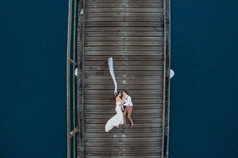 Natural Noosa River Destination Photographers - Brisbane, Sunshine Coast, Australian Wedding Drone