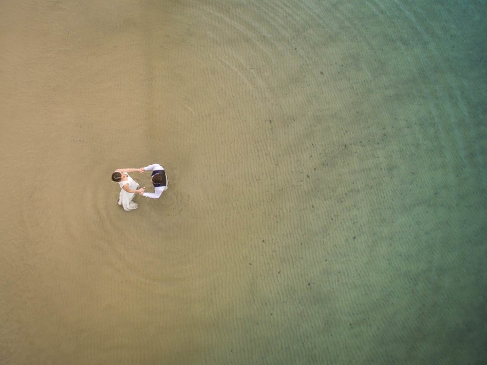Luxury Noosa Beach Destination Wedding Drone - Sunshine Coast, Brisbane, Australian Elopement Photographers