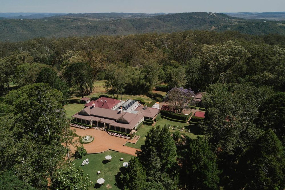 Gabbinbar Homestead, Toowoomba Destination Wedding Photographer Drone - Sunshine Coast, Queensland, Australian