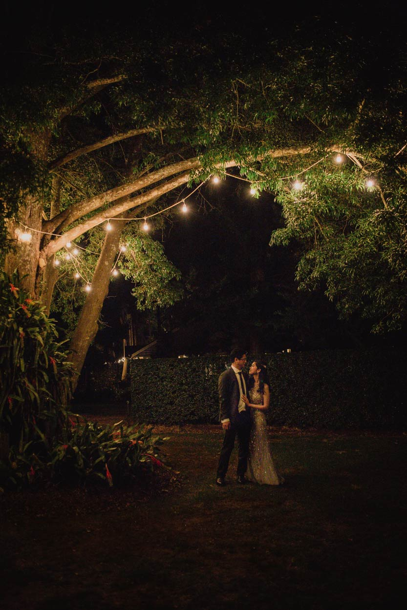 Creative Night Shot Fine Art Wedding Photographer - Gabbinbar Estate, Toowoomba & Sunshine Coast, Australian Destination