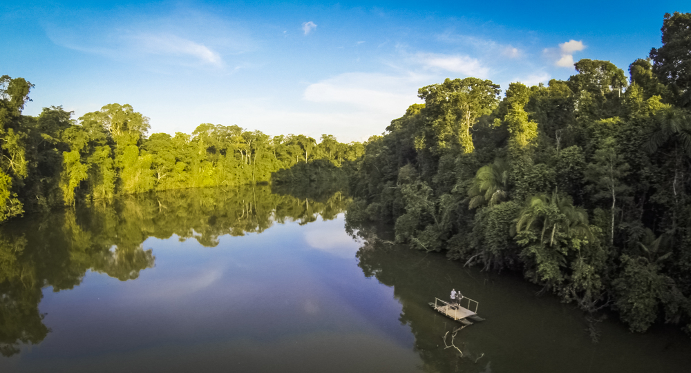 Stock aerial video of the Amazon rainforest