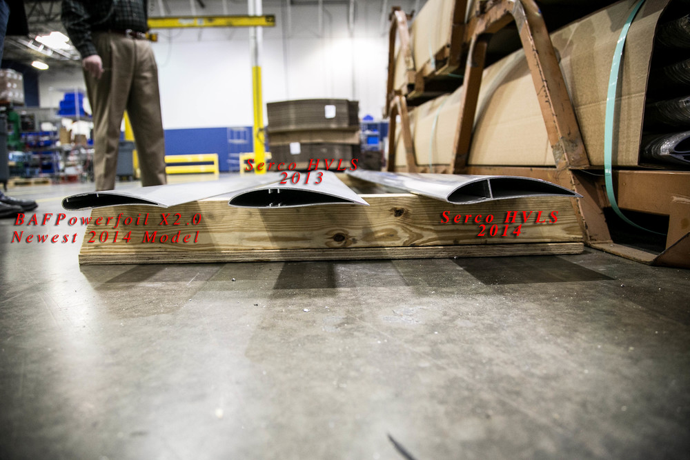 "We don't mess around with flimsy fan blades that droop when powered off, or lift excessively at full speed. During the ""Step-Test"" our blade can handle the weight of a person on it. Oh, and did we mention that the blade profile is fully optimized to produce a downforce column of air?"