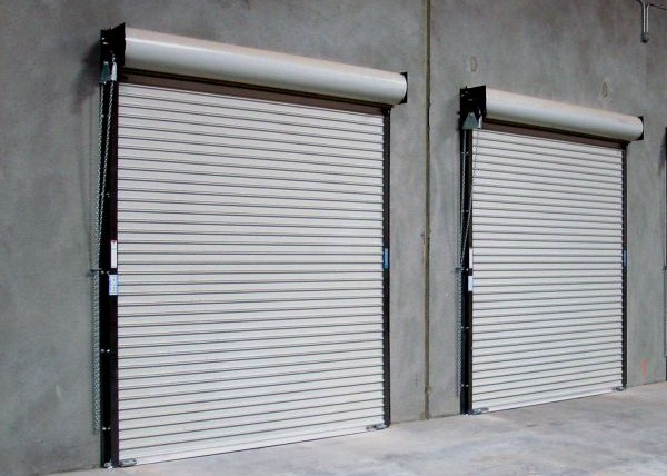 Roll Up Rolling Steel Coiling Door STL & Rolling Steel Doors \u2014 Rice Equipment Co. Loading Dock \u0026 Door Service