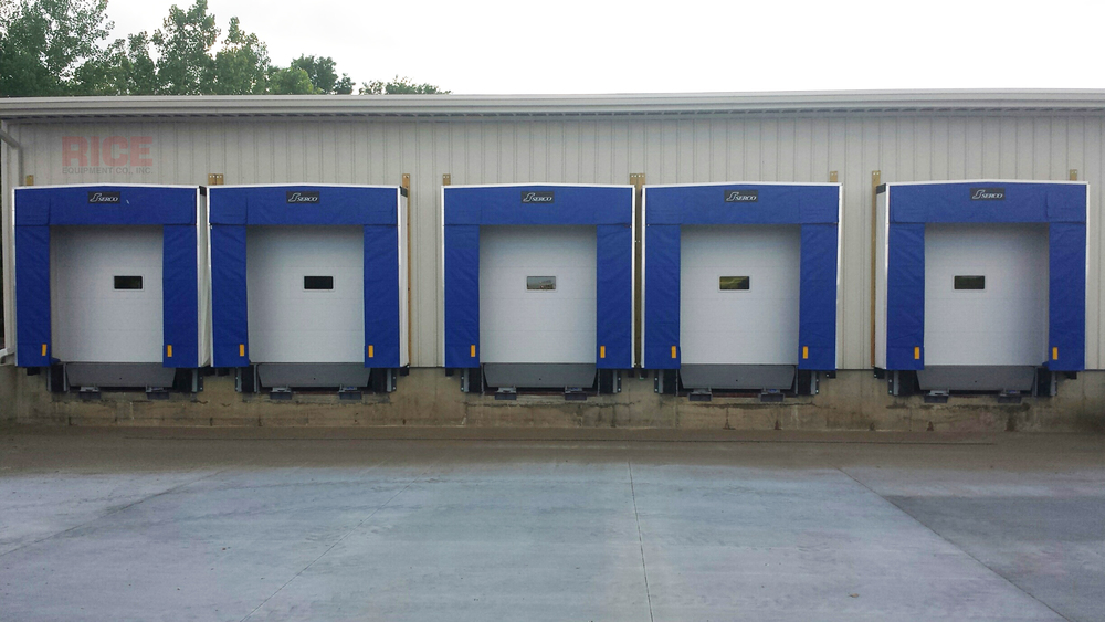 Blue Dock Seal Shelter Bumper Truck Pad Industrial Loading Dock Equipment Rice Equipment St Louis MO IL