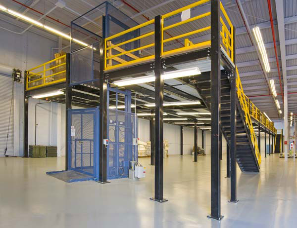 Mezzanine Industrial parts and material freight lift st louis mo.jpg
